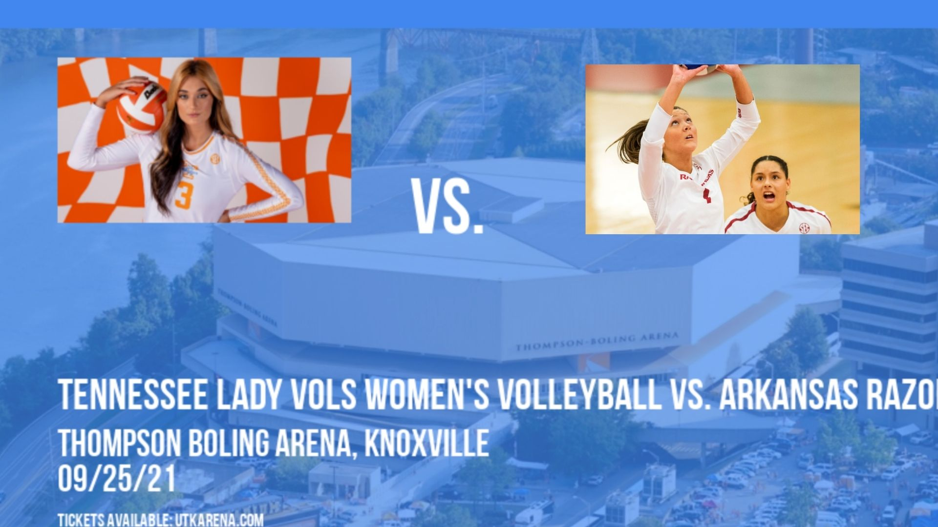 Tennessee Lady Vols Women's Volleyball vs. Arkansas Razorbacks at Thompson Boling Arena